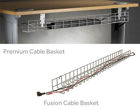 Fusion U0026 Premium Cable Basket | Cable Management | Accessories | Space  Office Systems   Office Furniture London