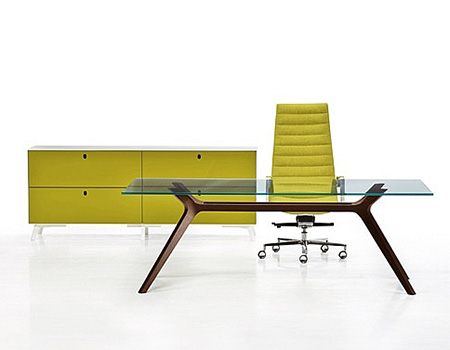 Executive Office Table With Glass Top : ... Executive Desks  Desking  Space Office Systems - Office Furniture